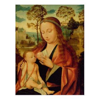 Mary avec l'enfant du Christ, début du 16ème Cartes Postales