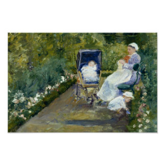 Mary Cassatt - enfants dans un jardin Poster