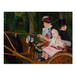 Mary Cassatt - une femme et un entraînement de Cartes Postales