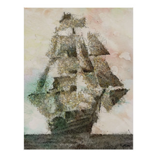 Mary Celeste - art vintage Posters