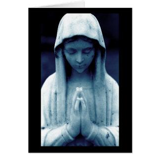 Mary dans le bleu cartes de vœux