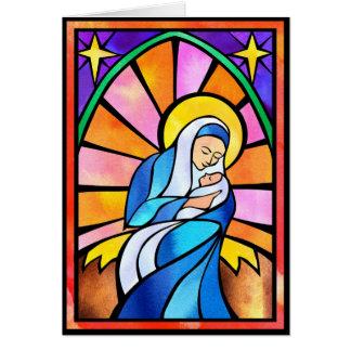 Mary et enfant carte de vœux