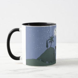 Mary et Joseph, conception de Noël, sur une tasse