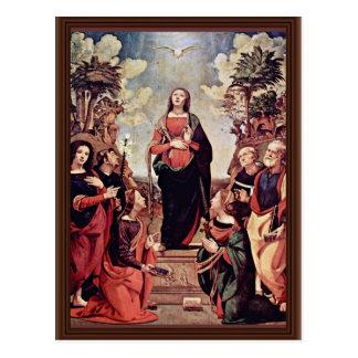 Mary et saints : St Jo de St Catherine St Margaret Cartes Postales