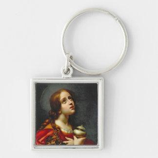 Mary Magdalene, 1660-70 (huile sur la toile) Porte-clé Carré Argenté