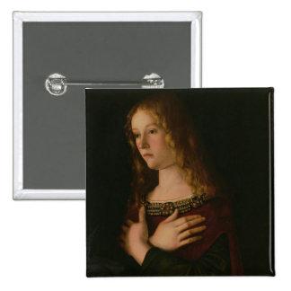 Mary Magdalene, détail de la Vierge et de l'enfant Badges Avec Agrafe