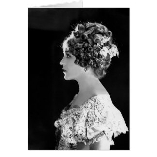 Mary Pickford, actrice Canadien-Américaine Carte De Vœux