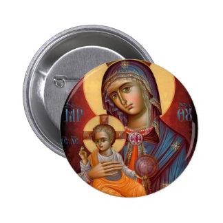 Mary - THEOTOKOS Badge Rond 5 Cm