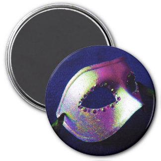 Mascarade bleue de minuit aimants pour réfrigérateur