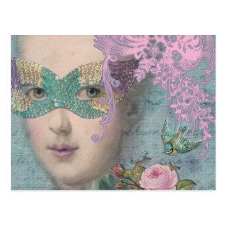 Mascarade de Français Carte Postale