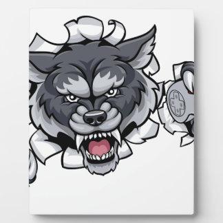 Mascotte animale de Gamer d'Esports de loup Plaque Photo