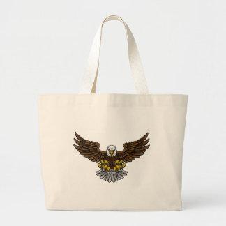 Mascotte chauve d'Eagle d'Américain Grand Tote Bag
