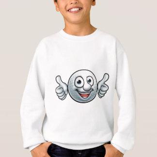 Mascotte de boule de golf sweatshirt