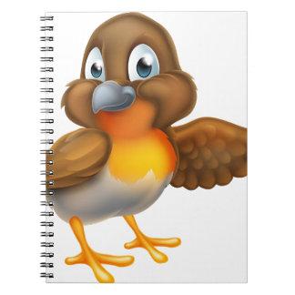 Mascotte d'oiseau de Robin de bande dessinée Carnet