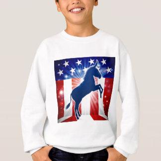 Mascotte politique d'âne de Démocrate Sweatshirt