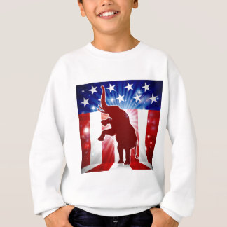 Mascotte politique d'éléphant républicain sweatshirt
