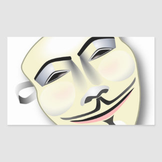 Masque anonyme sticker rectangulaire