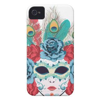Masque avec des roses et Feathers3 Coque Case-Mate iPhone 4