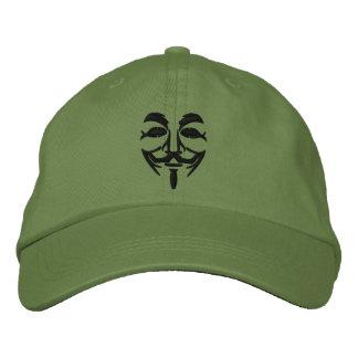 Masque brodé anonyme casquette brodée