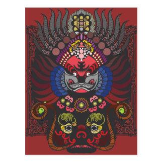 Masque chinois carte postale