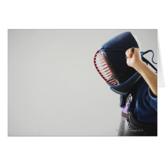 Masque d'attache d'escrimeur de Kendo Carte De Vœux