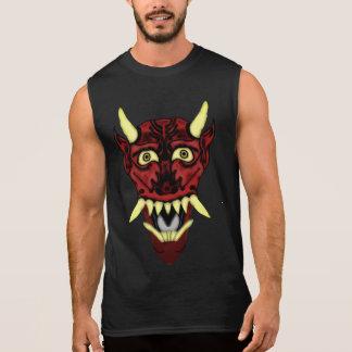 masque de démon de hannya t-shirt sans manches