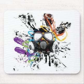 Masque de gaz grunge tapis de souris