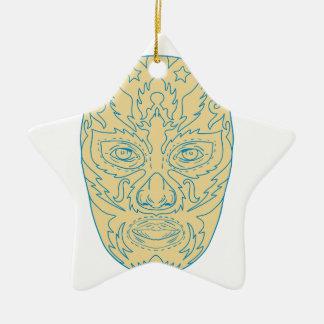 Masque de Luchador Lucha Libre Ornement Étoile En Céramique