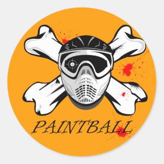 Masque de Paintball Autocollant Rond