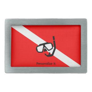 Masque de plongée avec le drapeau boucles de ceinture rectangulaires