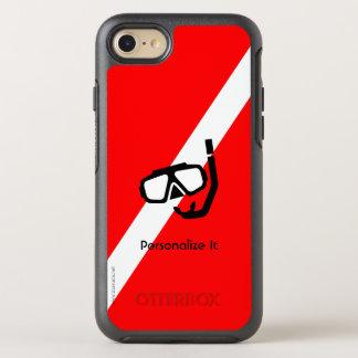 Masque de plongée avec le drapeau coque otterbox symmetry pour iPhone 7
