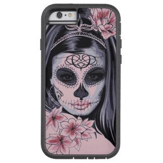 Masque de squelette de femme coque iPhone 6 tough xtreme
