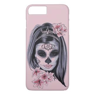 Masque de squelette de femme coque iPhone 7 plus