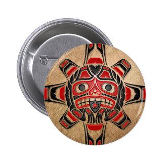 Masque de Sun de Haida Badge Rond 5 Cm