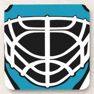 Masque d'hockey dessous-de-verre