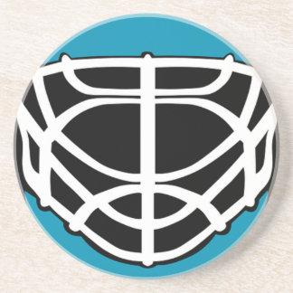 Masque d'hockey dessous de verre en grès