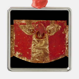 Masque d'Inca Ornement Carré Argenté