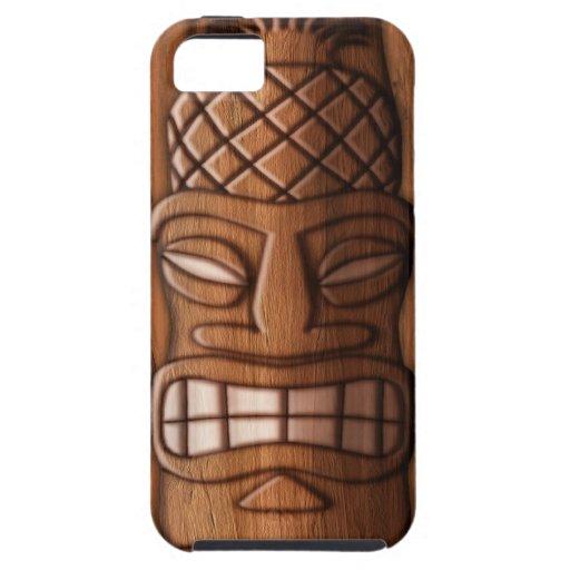 Masque en bois de tiki coque iphone 5 case mate zazzle for Case en bois