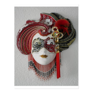 Masque en céramique vénitien cartes postales