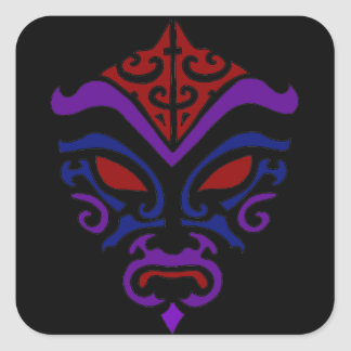 Masque foncé de Goth Kabuki de style tribal de tat Adhésif