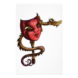 Masque I de dragon d'or Papeterie