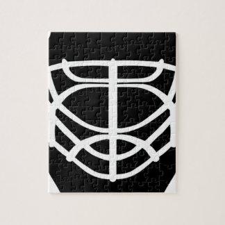 Masque noir d'hockey puzzle