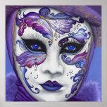 Masque pourpre de carnaval affiches