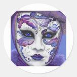 Masque pourpre de carnaval par PSOVART Adhésif