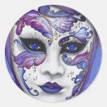Masque pourpre de carnaval par PSOVART Adhésifs