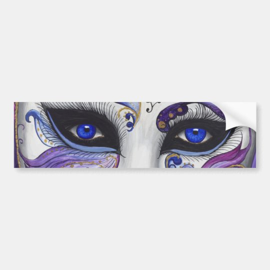 Masque pourpre de carnaval par PSOVART Autocollant De Voiture