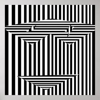 Masque psychédélique des illusions posters