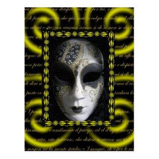 Masque vénitien 3 carte postale