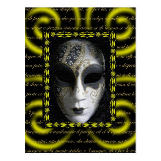Masque vénitien 3 cartes postales