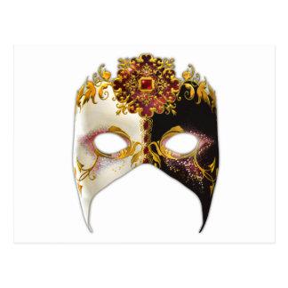 Masque vénitien : Bijou rouge Carte Postale